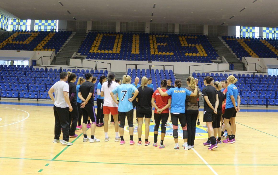 """Sala """"Olimpia"""", casa echipei naţionale de handbal feminin a României în această săptămână!"""