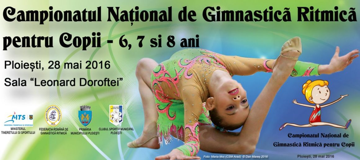 """Campionatul Naţional de Gimnastică Ritmică pentru Copii, sâmbătă, în Sala """"Doroftei""""!"""