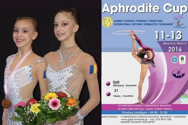 """Gimnastele de la CSM Ploieşti, apreciate la """"Aphrodite Cup""""!"""