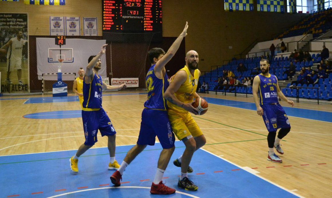 """Echipa de baschet masculin, eşec în faţa """"legiunii de români"""" a Sibiului!"""