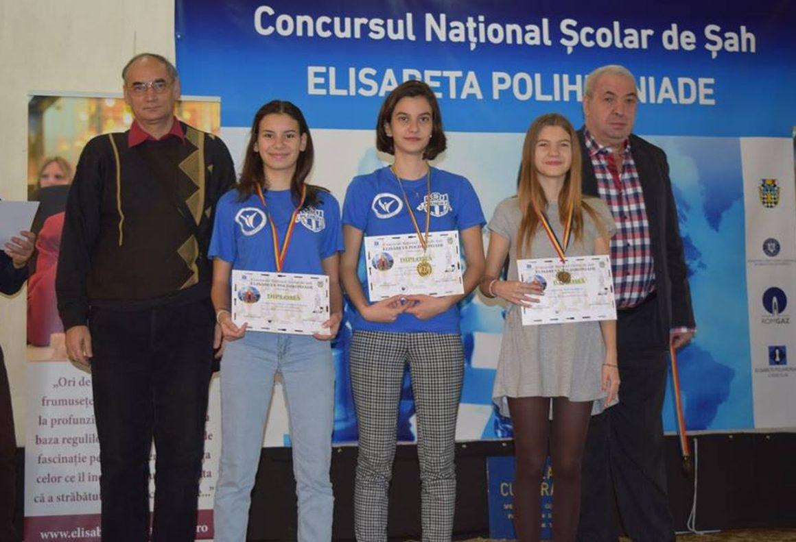 """Şahista Anamaria Raţă, două medalii de aur la Concursul Naţional Şcolar """"Elisabeta Polihroniade""""!"""