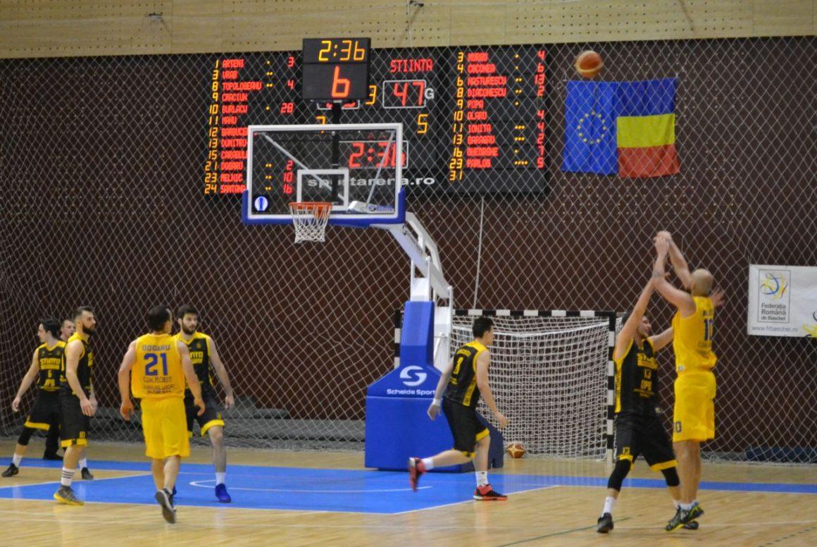 Echipa de baschet masculin, victorie clară cu Ştiinţa Bucureşti: 82-68!