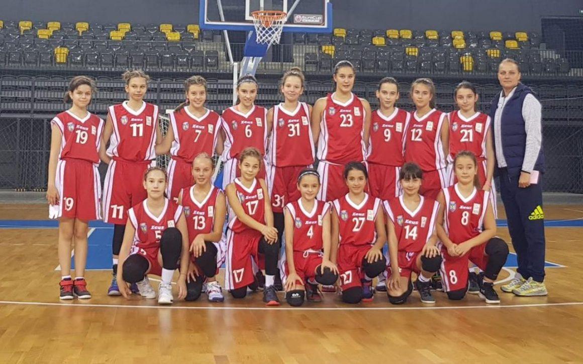 """Echipa de baschet fete """"U13"""", o victorie şi o înfrângere în turneul de la Bucureşti"""