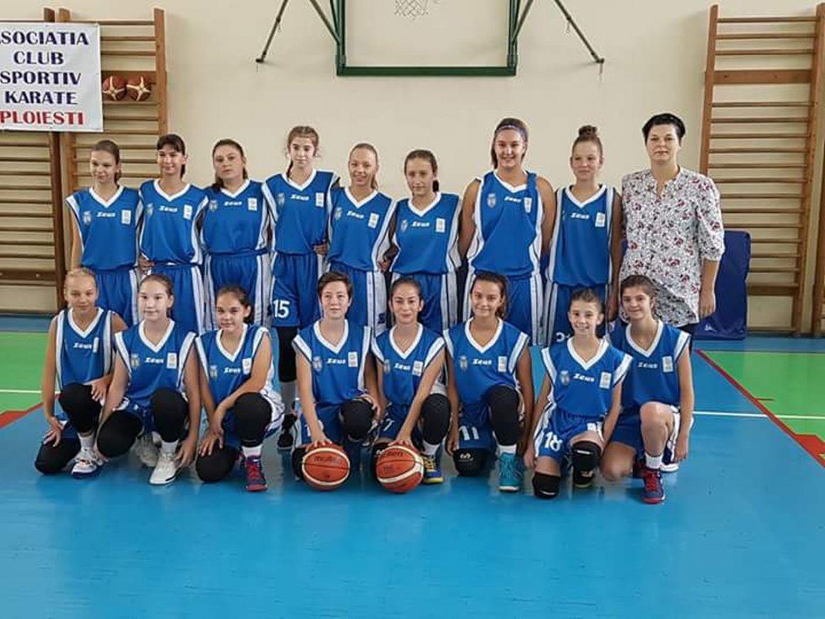 """Echipa de baschet fete """"U15"""", în faţa primului turneu al ediţiei de campionat 2019-2020!"""
