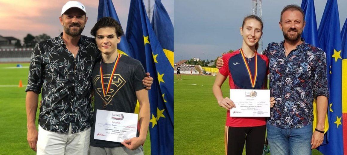 """Atleţii Alexandru Geamănu şi Teodora Iancu, medalii de bronz la Campionatele Naţionale """"U20""""!"""