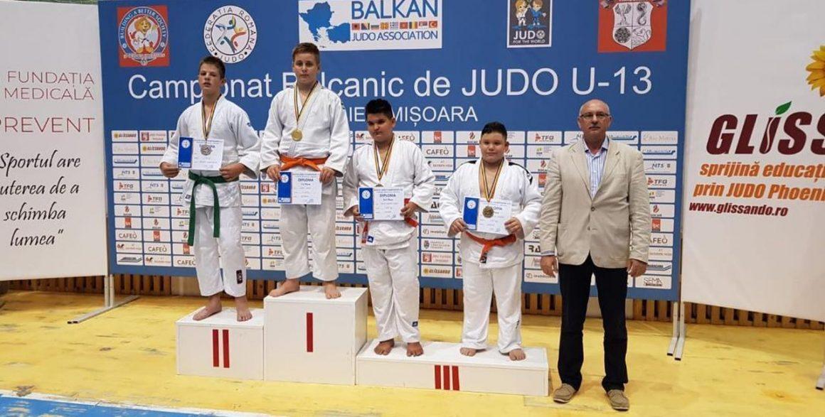 """Judoka David Ţugui, medalie de aur la Campionatele Balcanice """"U13""""!"""