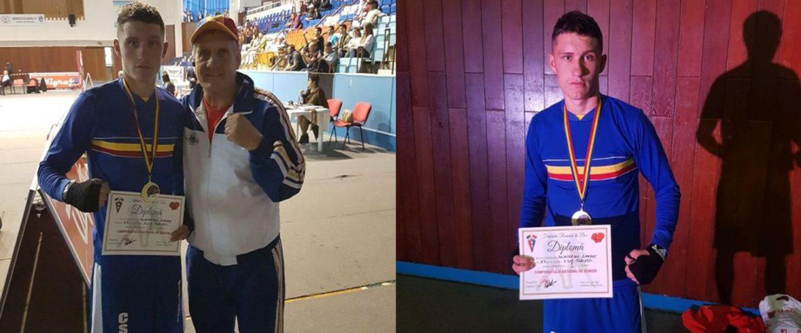 Fraţi de aur: boxerul George Dumitrescu a devenit campion naţional de seniori, la Târgu Mureş!