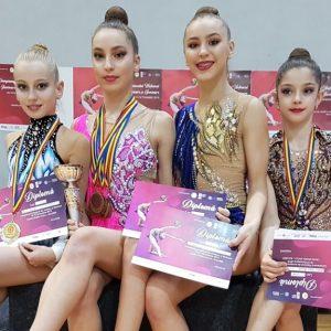 Gimnastică ritmică: CSM Ploieşti, din nou campioană naţională de junioare în concursul pe echipe!
