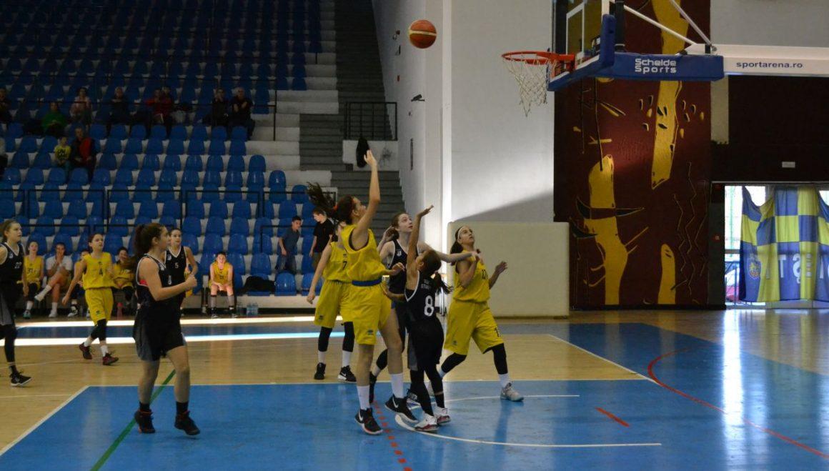"""Echipa de baschet fete """"U14"""", o victorie şi un eşec în turneul din Sala """"Olimpia""""!"""
