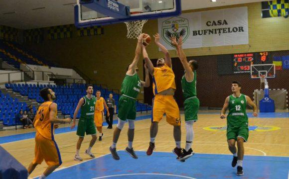 """Baschet masculin, Liga I: înfrângere cu Agronomia, în Sala """"Olimpia"""""""