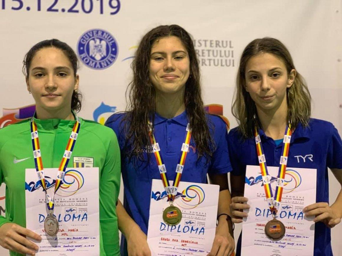 Înotătoarea Aida Stancu, vicecampioană naţională de cadeţi în proba de 100 metri fluture!