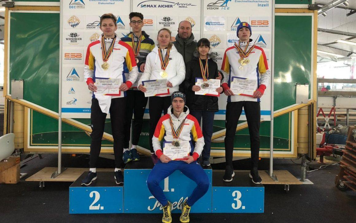 Patinatorii de la CSM Ploieşti, 22 de medalii la Campionatul Naţional pe Probe şi Poliatlon de la Inzell!
