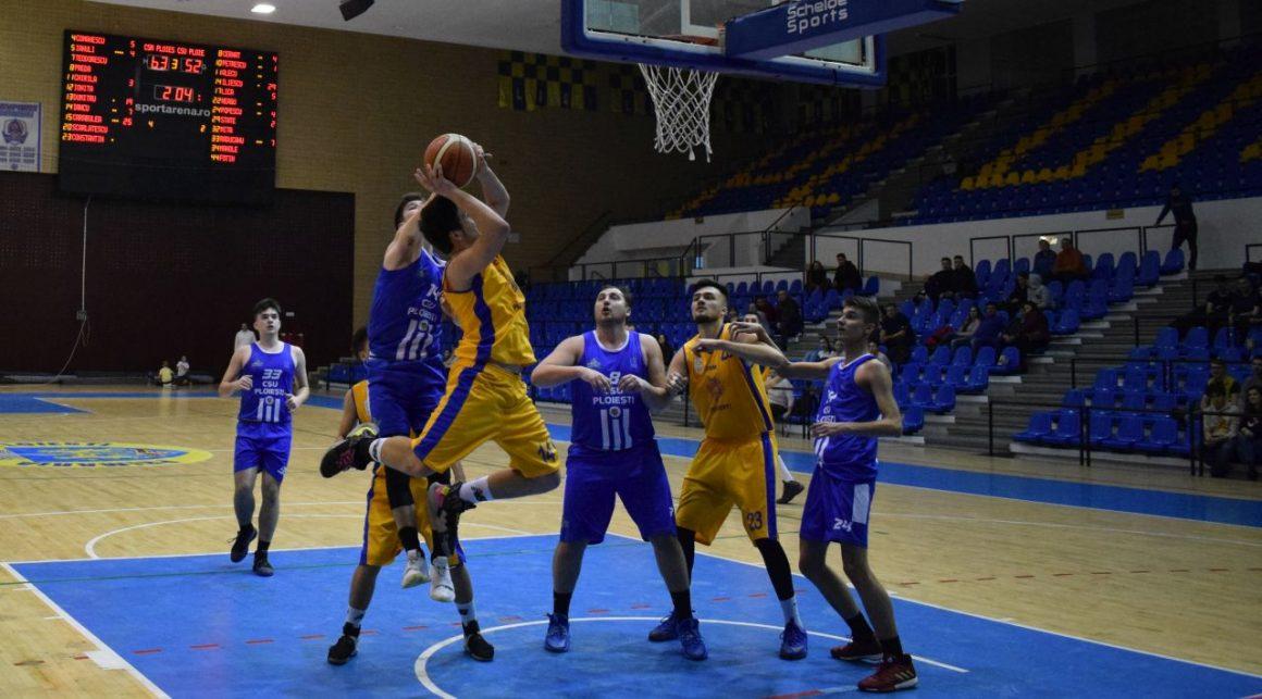 Echipa de baschet masculin, victorie clară cu CSU Ploieşti, în play-out-ul Ligii I!