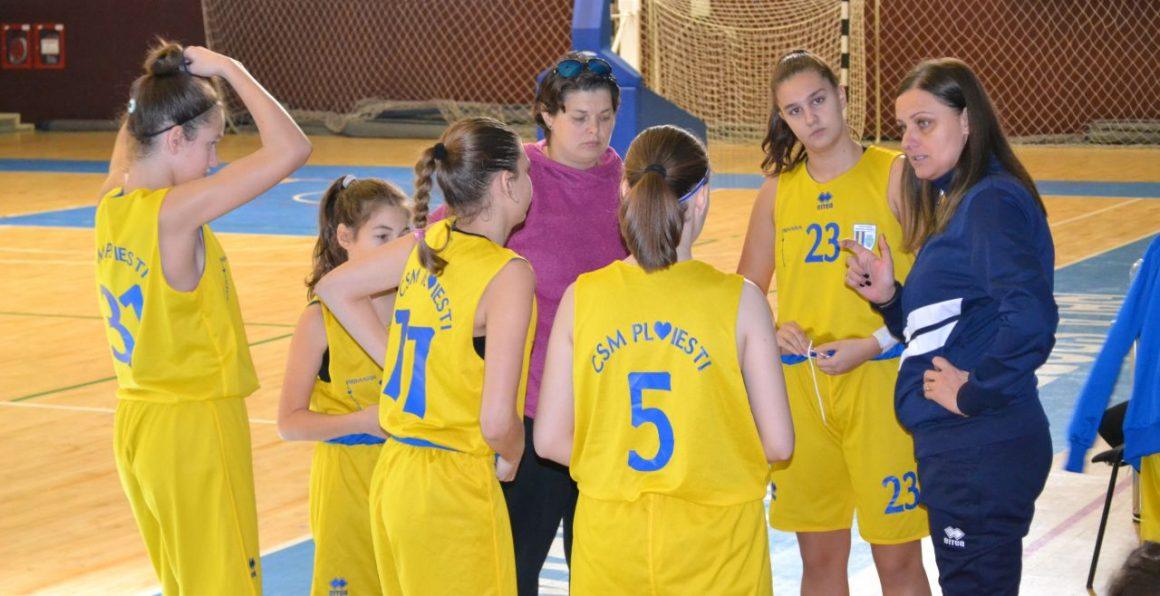 """Echipa de baschet fete """"U14"""" a CSM Ploieşti debutează, mâine, la turneul final!"""