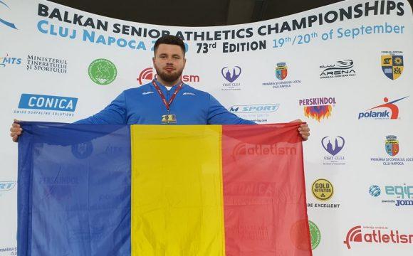 """Atletul Rareş Toader, campion balcanic de seniori la """"aruncarea greutăţii""""!"""