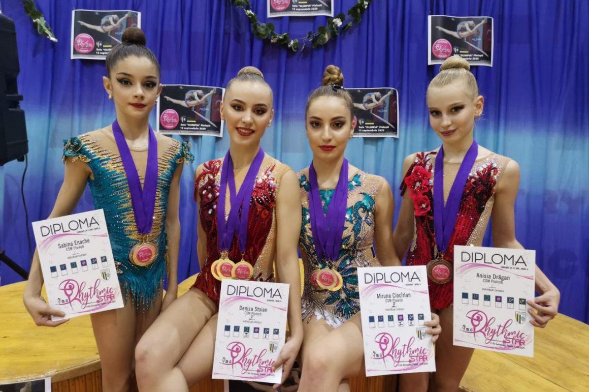 """Turneul Internaţional """"Rhythmic Star"""": gimnastele de la CSM Ploieşti, în top la prima ediţie!"""