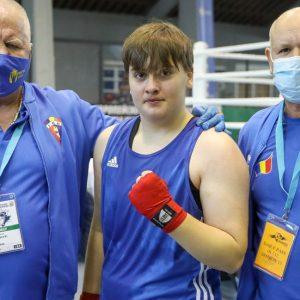 """Box: Livia Botică este campioană europeană de junioare la categoria """"+80 kg""""!"""