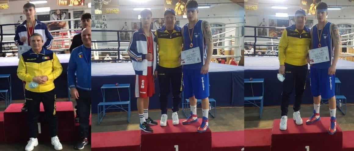 Boxerii Marian Ghinoiu şi Iulian Dumitrescu, medalii de aur la Cupa României, de la Brăila!