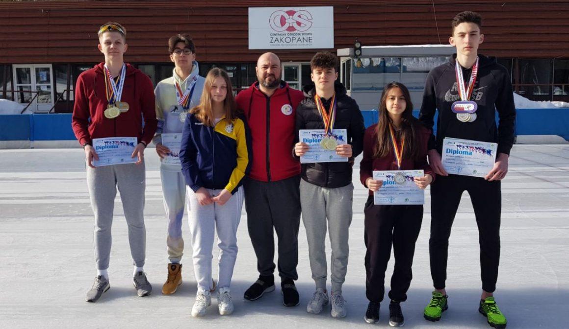 Patinatorii de la CSM Ploieşti, 21 de medalii obţinute la Campionatul Naţional pe Probe şi Poliatlon!