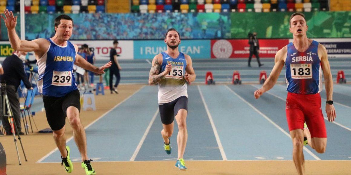 """Atletul Petre Rezmiveş, locul al 8-lea în finala de la """"60 metri"""" a Campionatului Balcanic de la Istanbul!"""