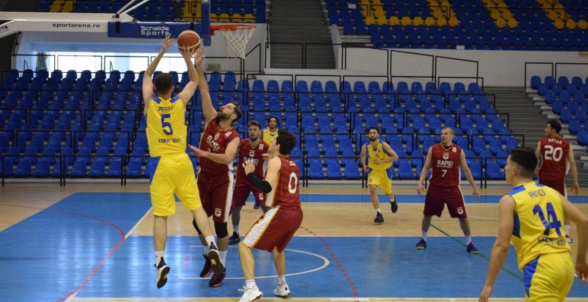 Echipa de baschet seniori, la primul eşec al sezonului: 64-76 cu Rapid Bucureşti!