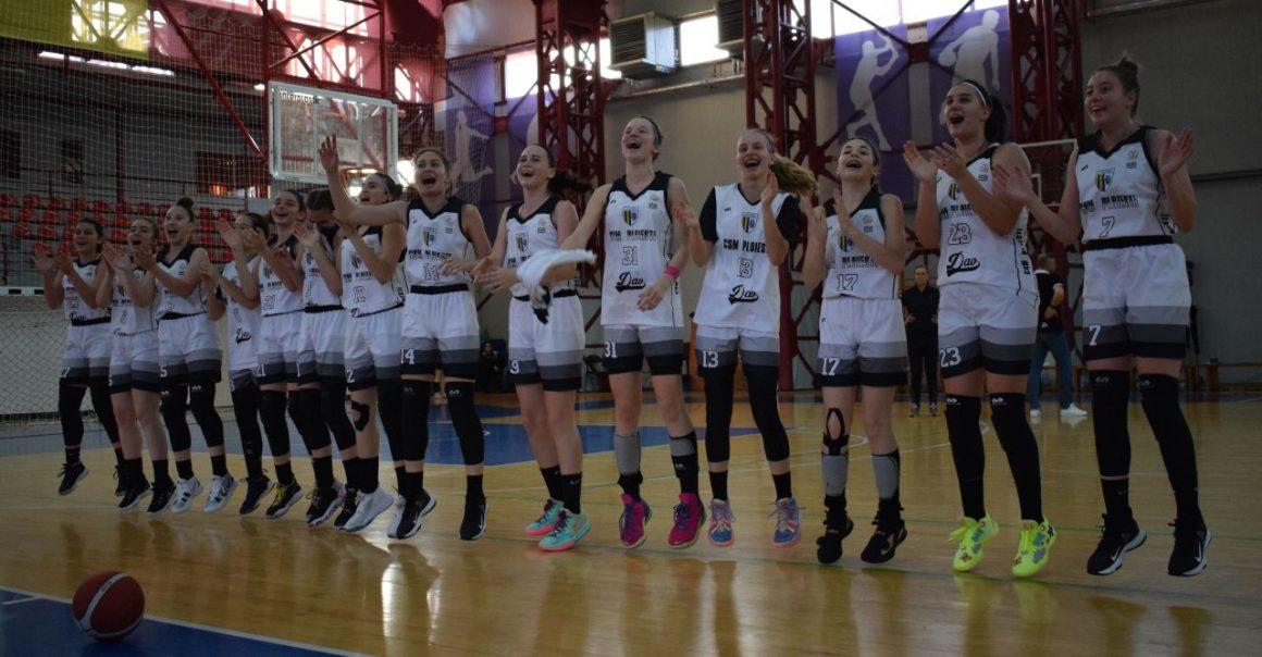 """Baschet fete """"U15"""": CSM Ploieşti joacă mâine finala campionatului, cu ACS Dan Dacian Bucureşti!"""