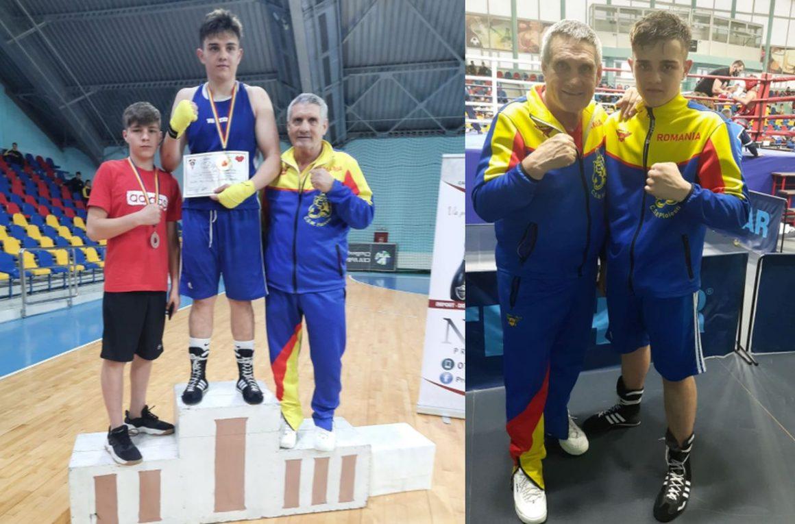 Boxerul Valentin Bîrzan, medaliat cu aur la Cupa României pentru Juniori!