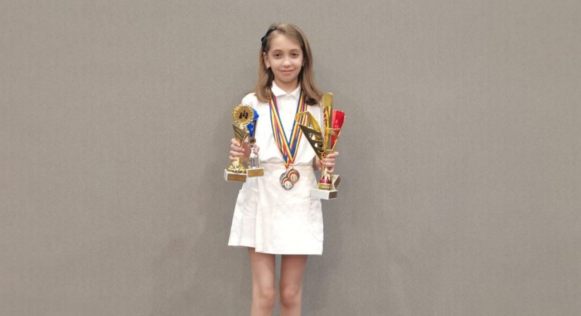 Antonia Radu, 4 medalii obţinute la Campionatele Naţionale de Şah pentru Copii!