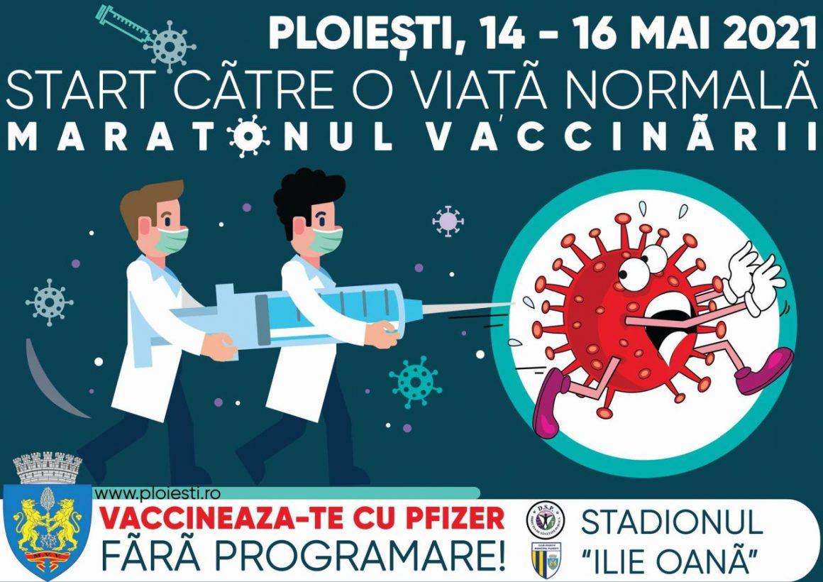 """Stadionul """"Ilie Oană"""" găzduieşte, în weekend, """"Maratonul Vaccinării""""!"""