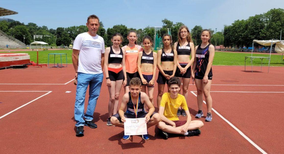 Atletul Mihai Vlădoiu, medaliat cu argint şi bronz la Campionatul Naţional de copii 1 şi 2!