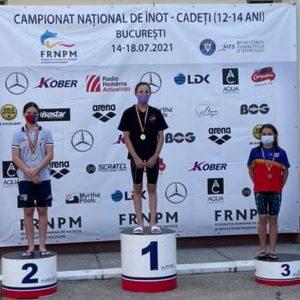 Înotătoarea Briana Păun, campioană naţională de cadeţi în proba de 400 metri liber!