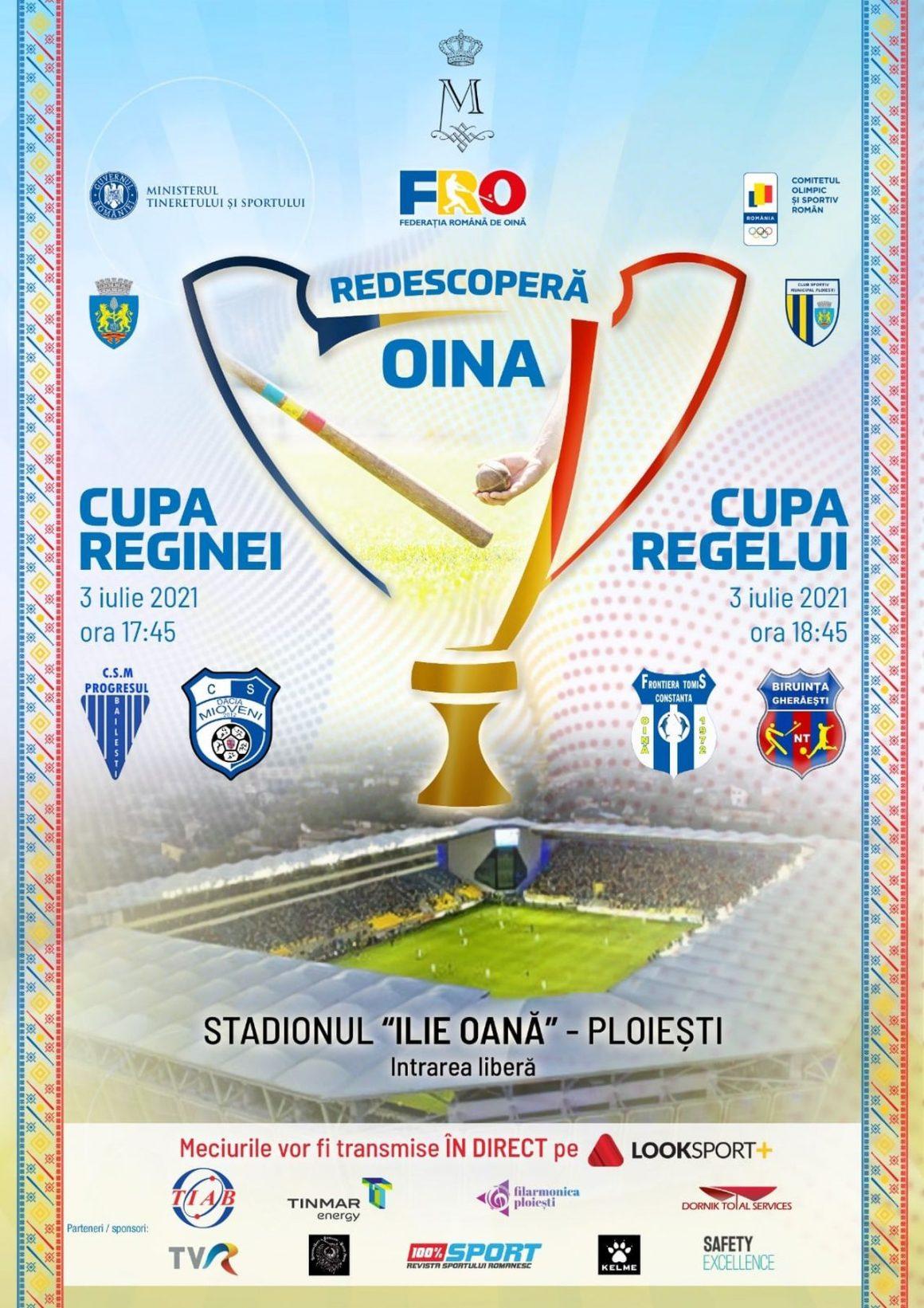 """Cupa Reginei şi Cupa Regelui la oină, găzduite, sâmbătă, de Stadionul """"Ilie Oană""""!"""