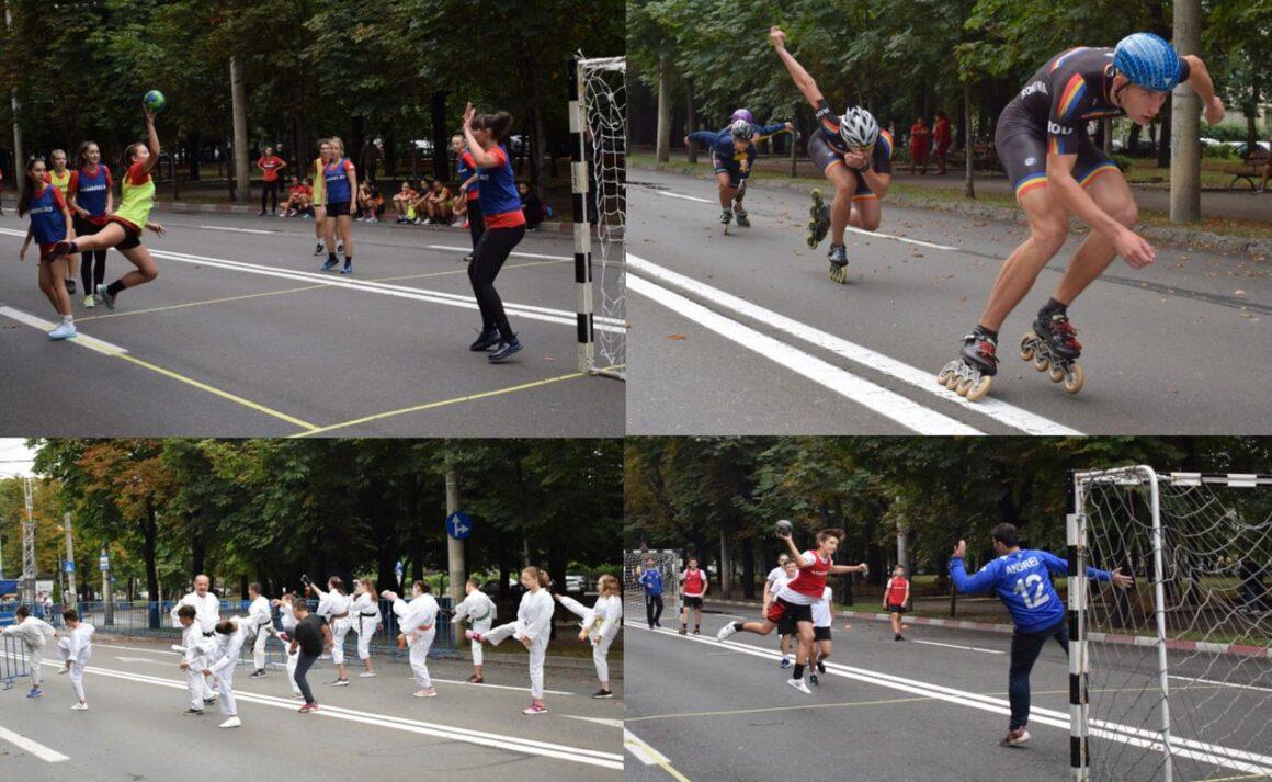 """Sportivii secţiilor de handbal, patinaj şi karate, prezenţi la acţiunea """"Weekend pe Bulevardul Castanilor""""!"""
