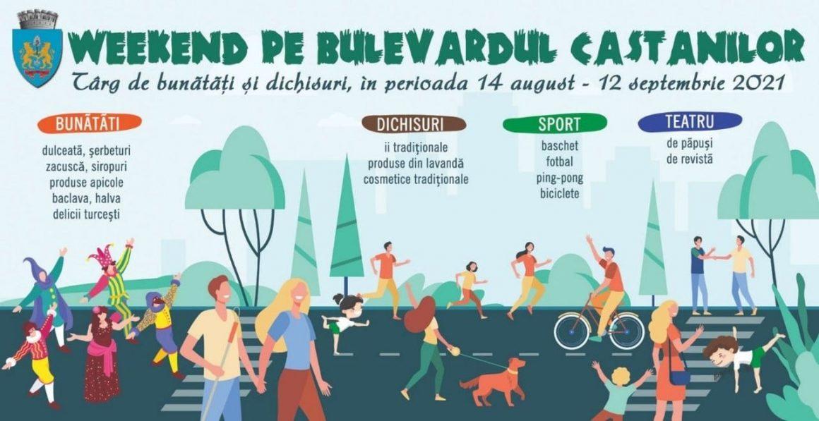"""Demonstraţii de baschet, volei, fotbal şi judo la acţiunea """"Weekend pe Bulevardul Castanilor""""!"""