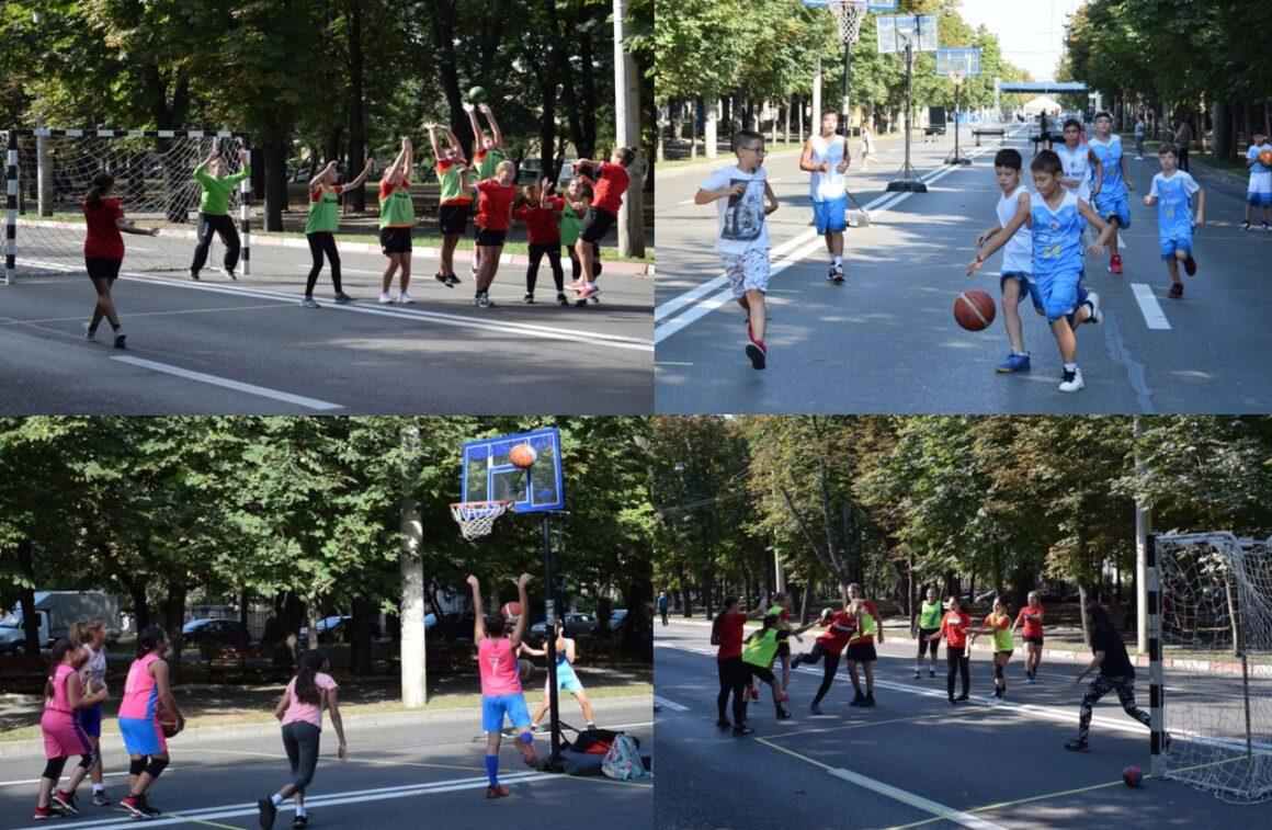 """Sportivii secţiilor de baschet şi handbal au participat la acţiunea """"Weekend pe Bulevardul Castanilor""""!"""