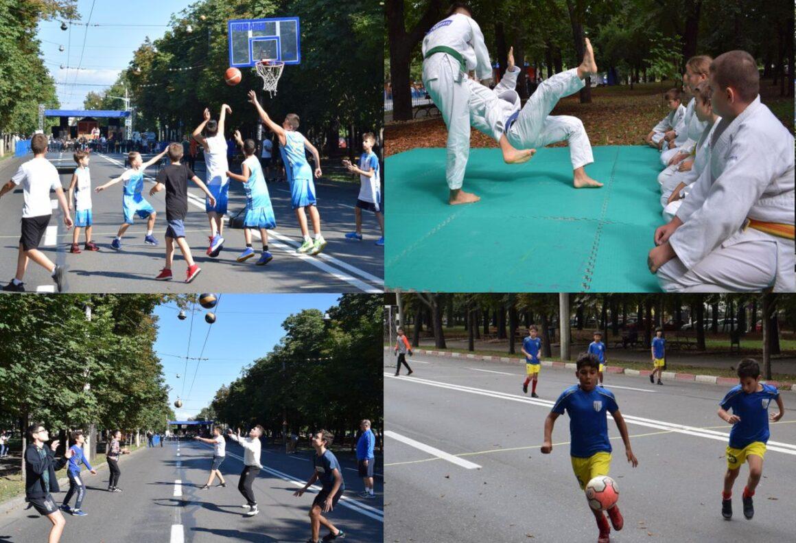 """Sportivii de la baschet, volei, fotbal şi judo, prezenţi la acţiunea """"Weekend pe Bulevardul Castanilor""""!"""